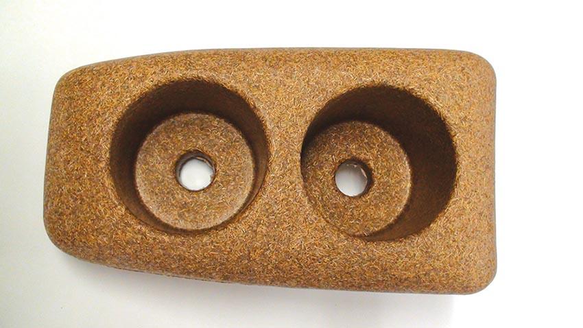 pieza polimero madera