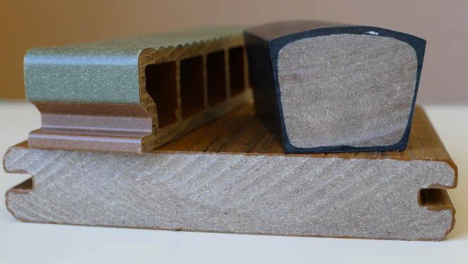 piezas polimero madera