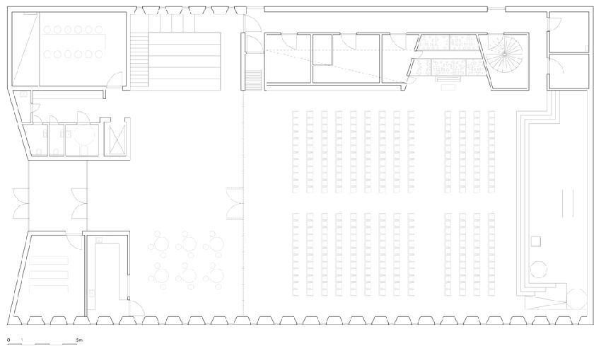 Planos del nivel superior de la edificación.