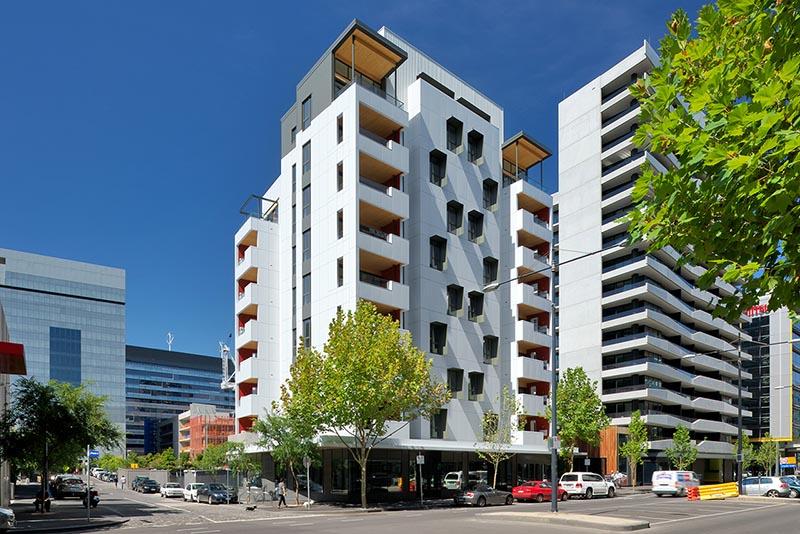 Vista exterior del edificio Forte en Melbourne
