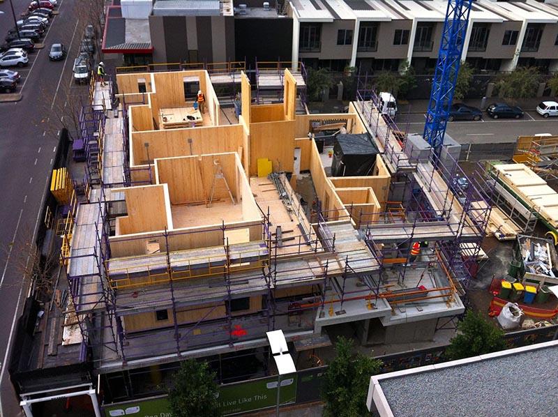 Vista de la construcción